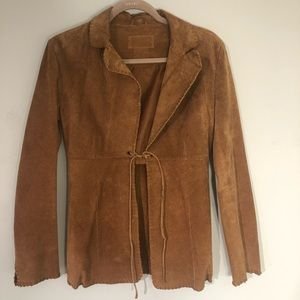Unique, retro, suede soft suede jacket. Sz. Small